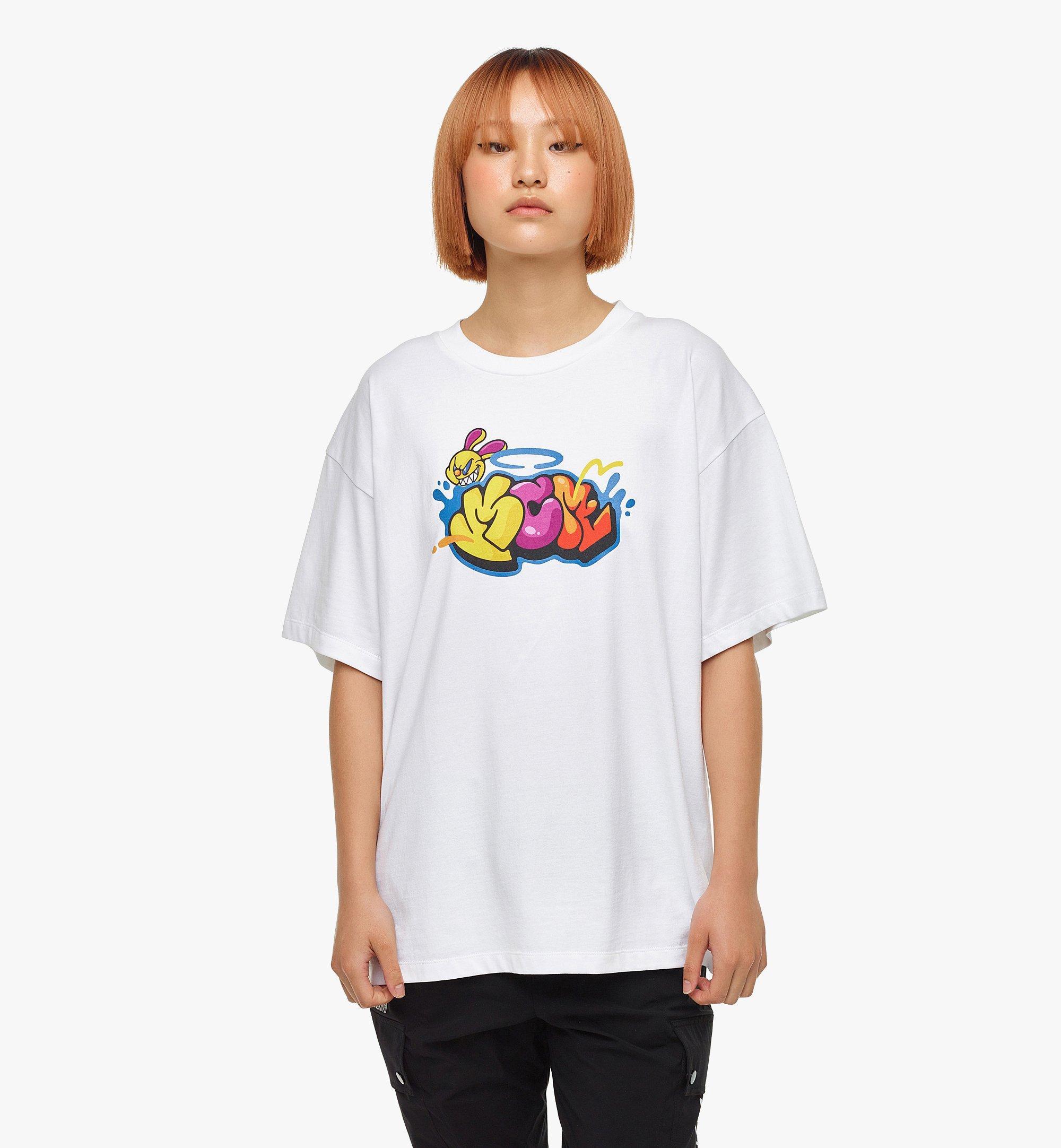 MCM MCM x SAMBYPEN T-Shirt mit gedrucktem Logo White MHTBASP02WD00M Noch mehr sehen 7