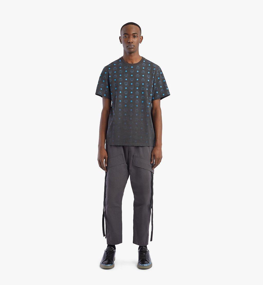 MCM Men's Gradient Visetos Print T-Shirt Black MHTBSMM03B200M Alternate View 3