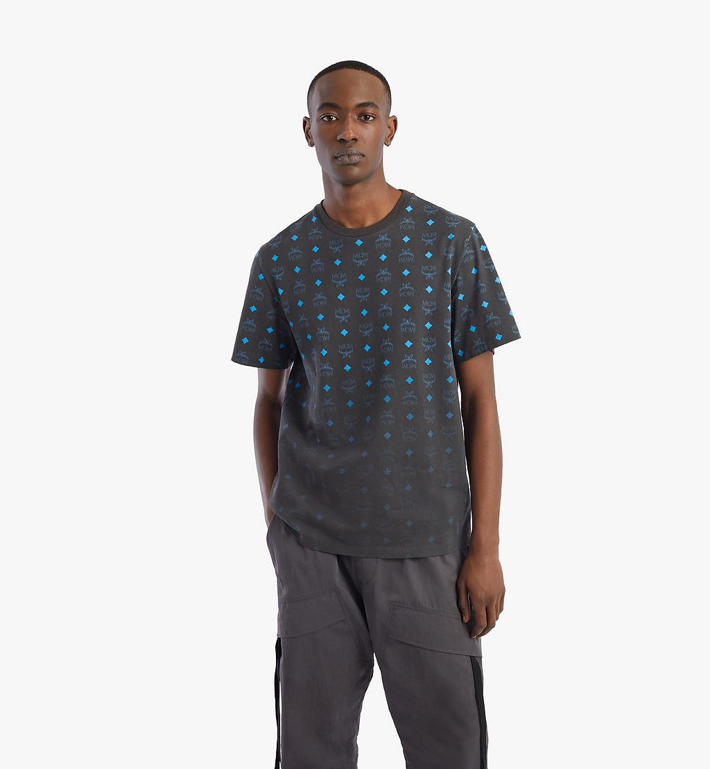 MCM Men's Gradient Visetos Print T-Shirt Black MHTBSMM03B200M Alternate View 2