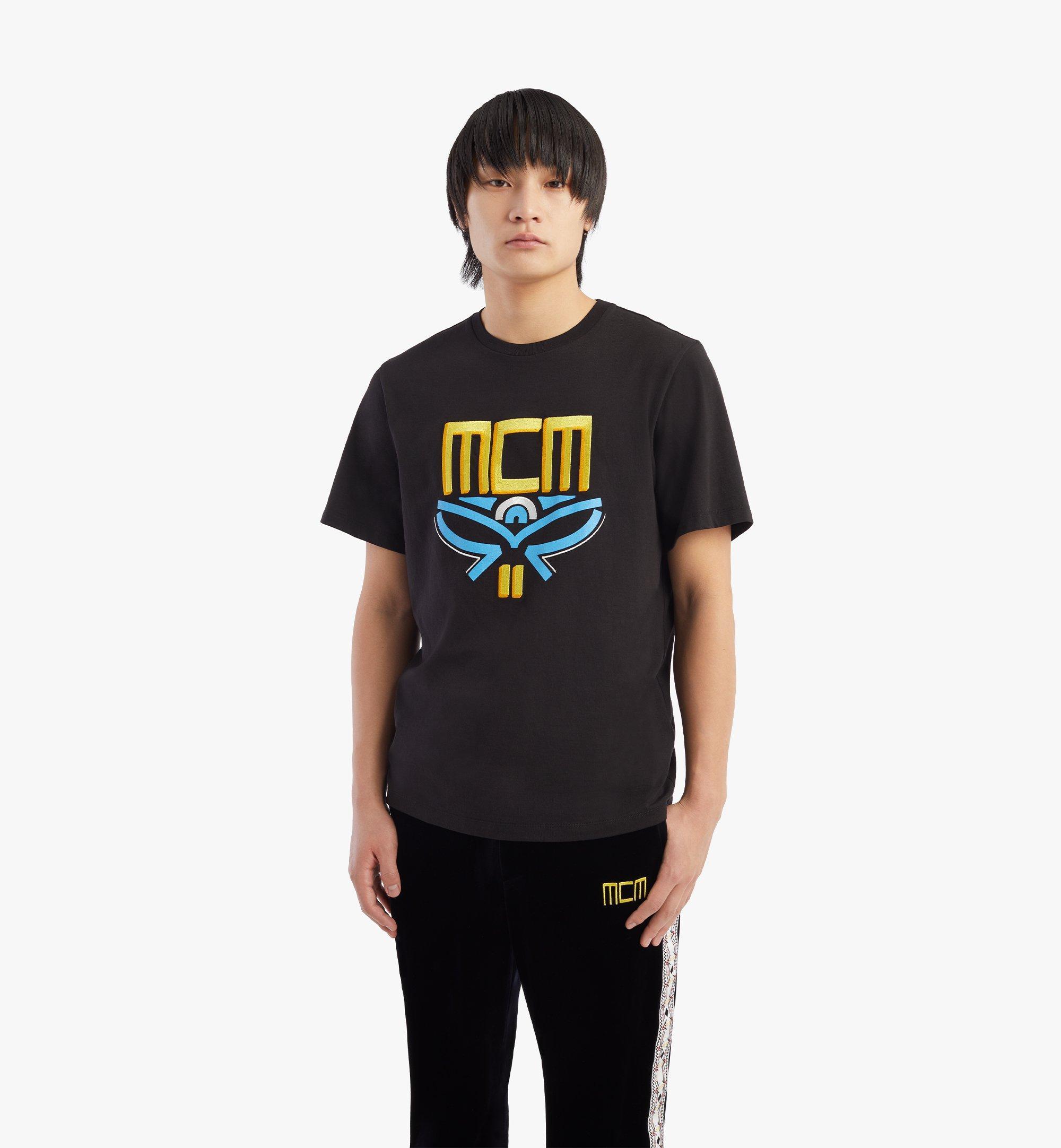 MCM T-shirt Geo Laurel pour homme Black MHTBSMM06BK00L Plus de photos 2