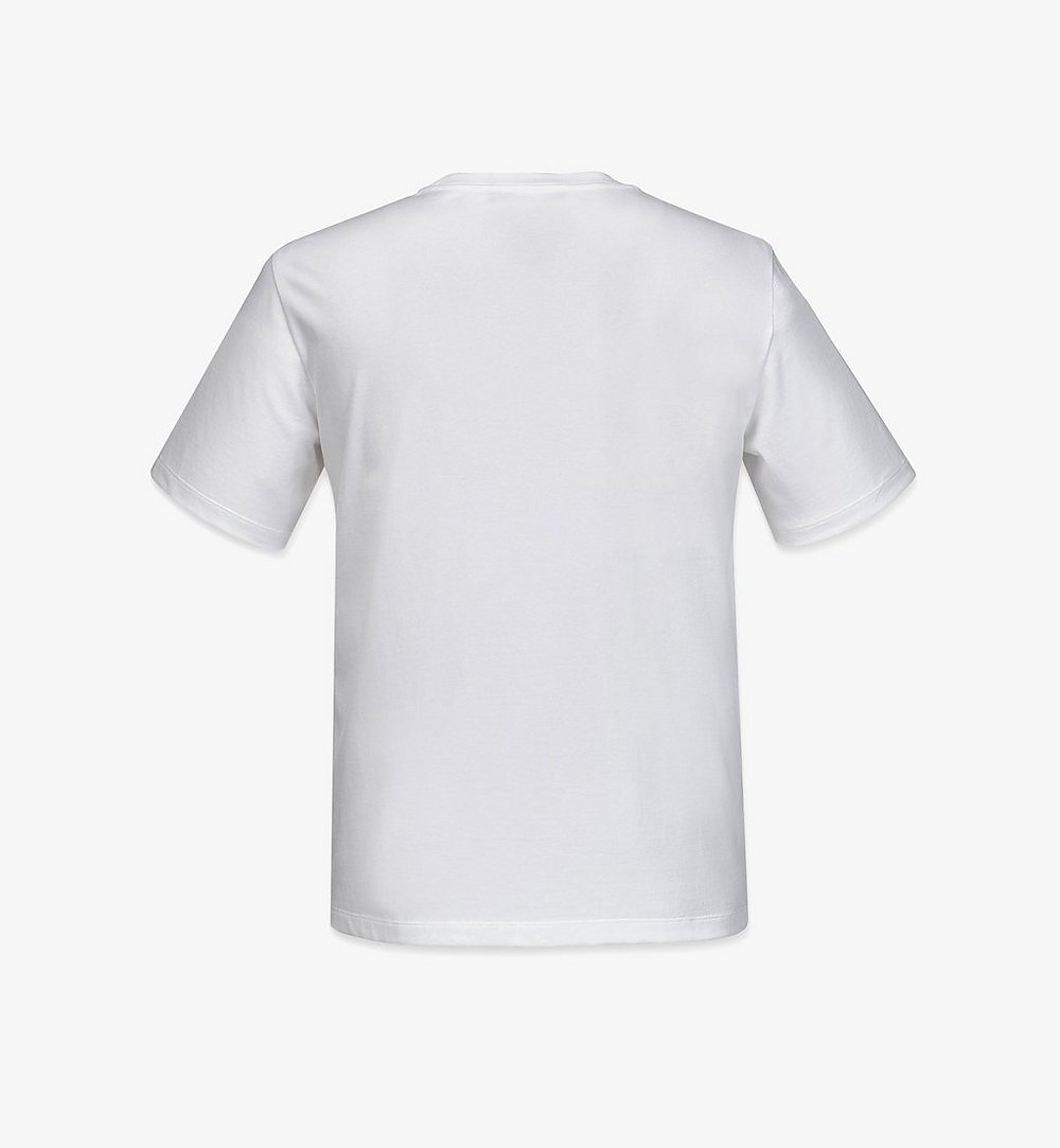 MCM Men's Geo Laurel T-Shirt White MHTBSMM06WT00M Alternate View 1