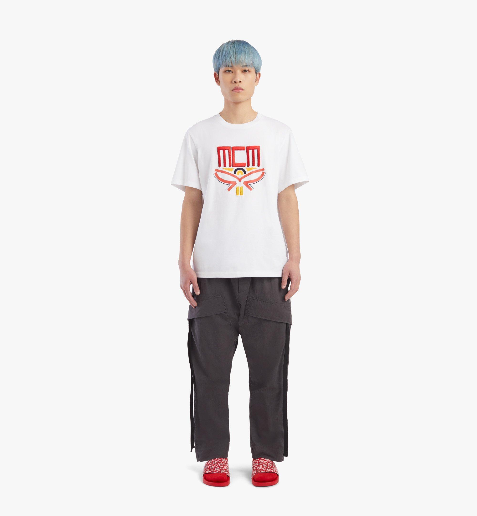 MCM 男士Geo月桂叶T恤 White MHTBSMM06WT00M 更多视角 3