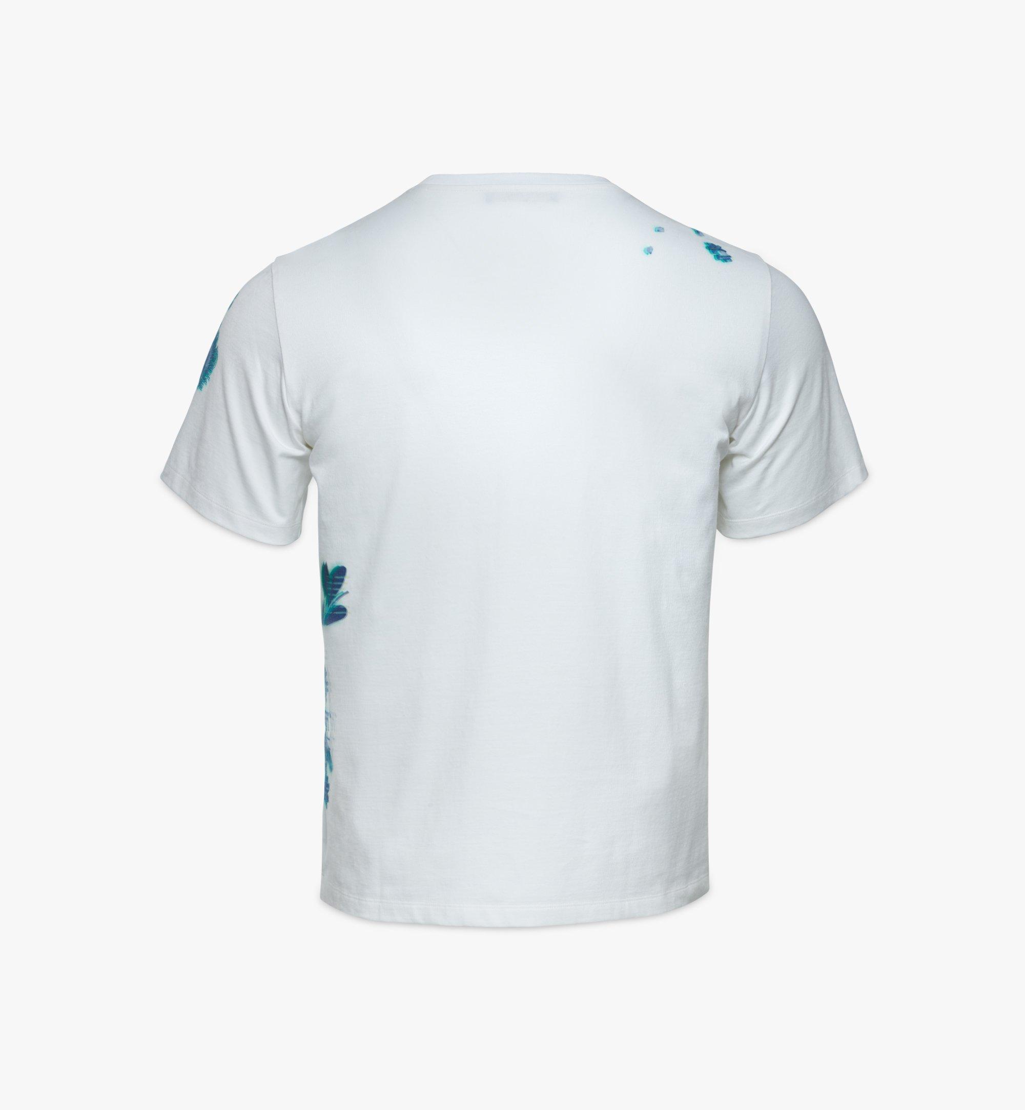 MCM เสื้อยืดพิมพ์ลาย Tech Flower สำหรับผู้ชาย White MHTBSMM07WT00M มุมมองอื่น 1