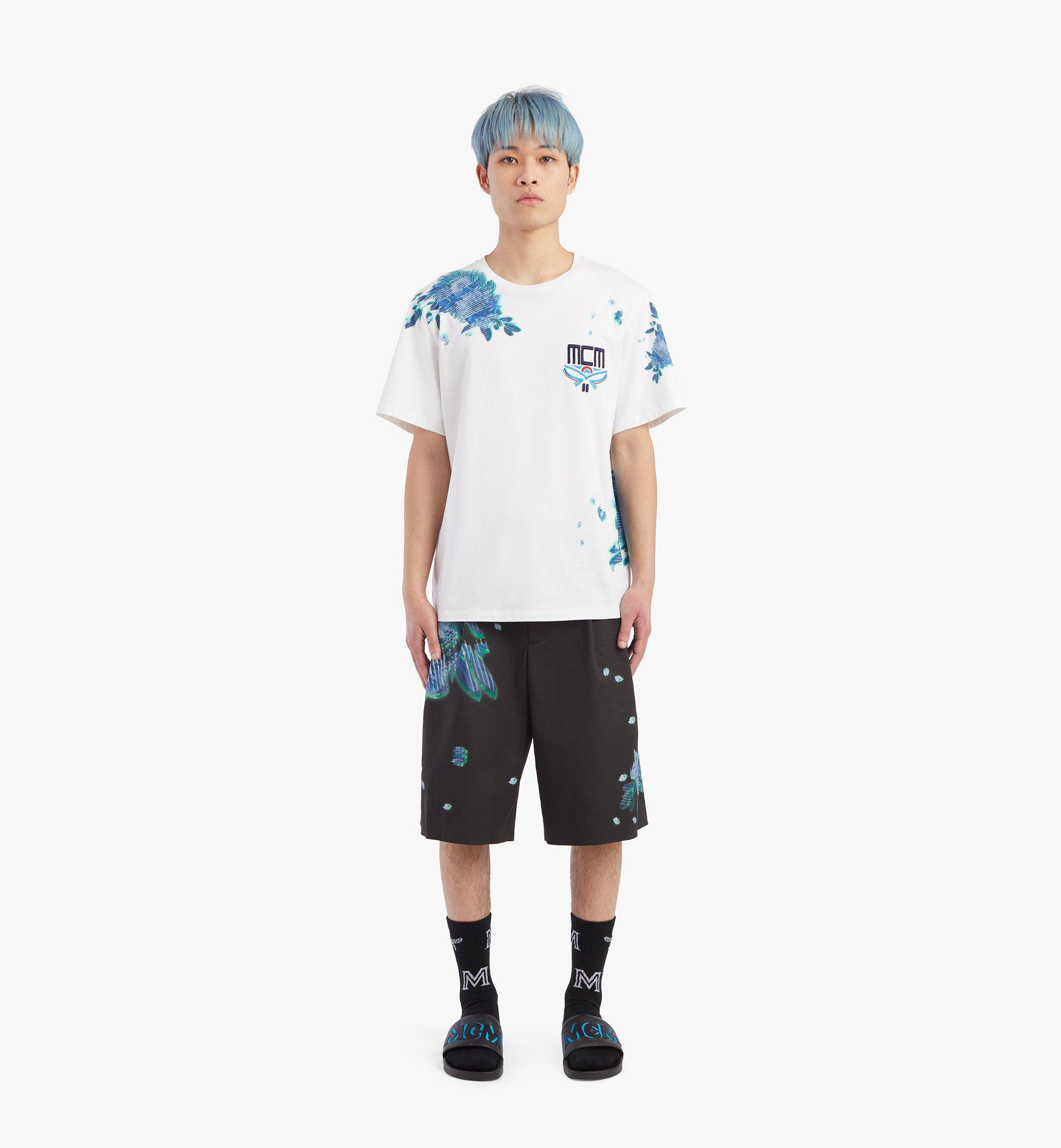 MCM เสื้อยืดพิมพ์ลาย Tech Flower สำหรับผู้ชาย White MHTBSMM07WT00M มุมมองอื่น 3