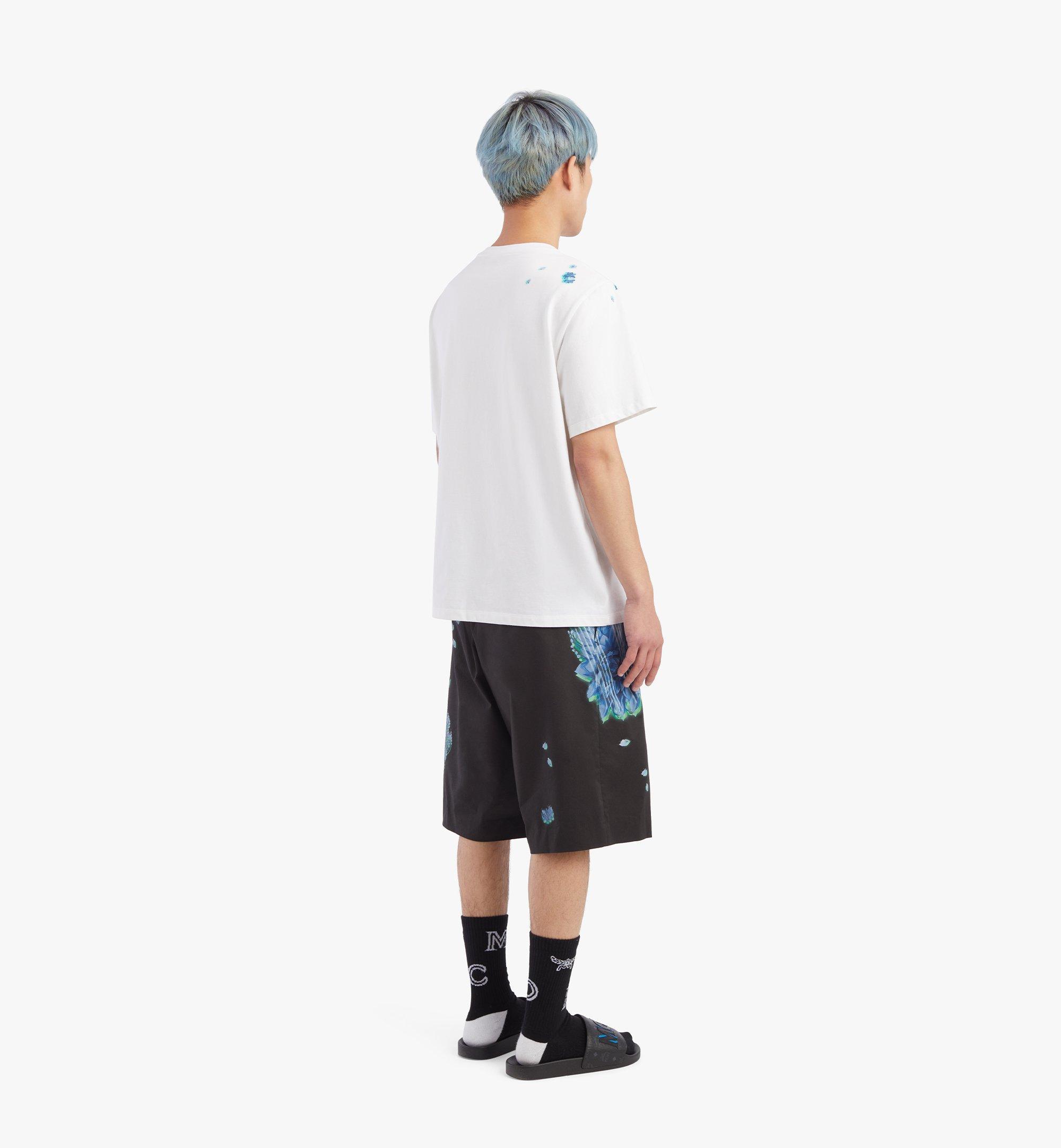 MCM Men's Tech Flower Print T-Shirt White MHTBSMM07WT00M Alternate View 2