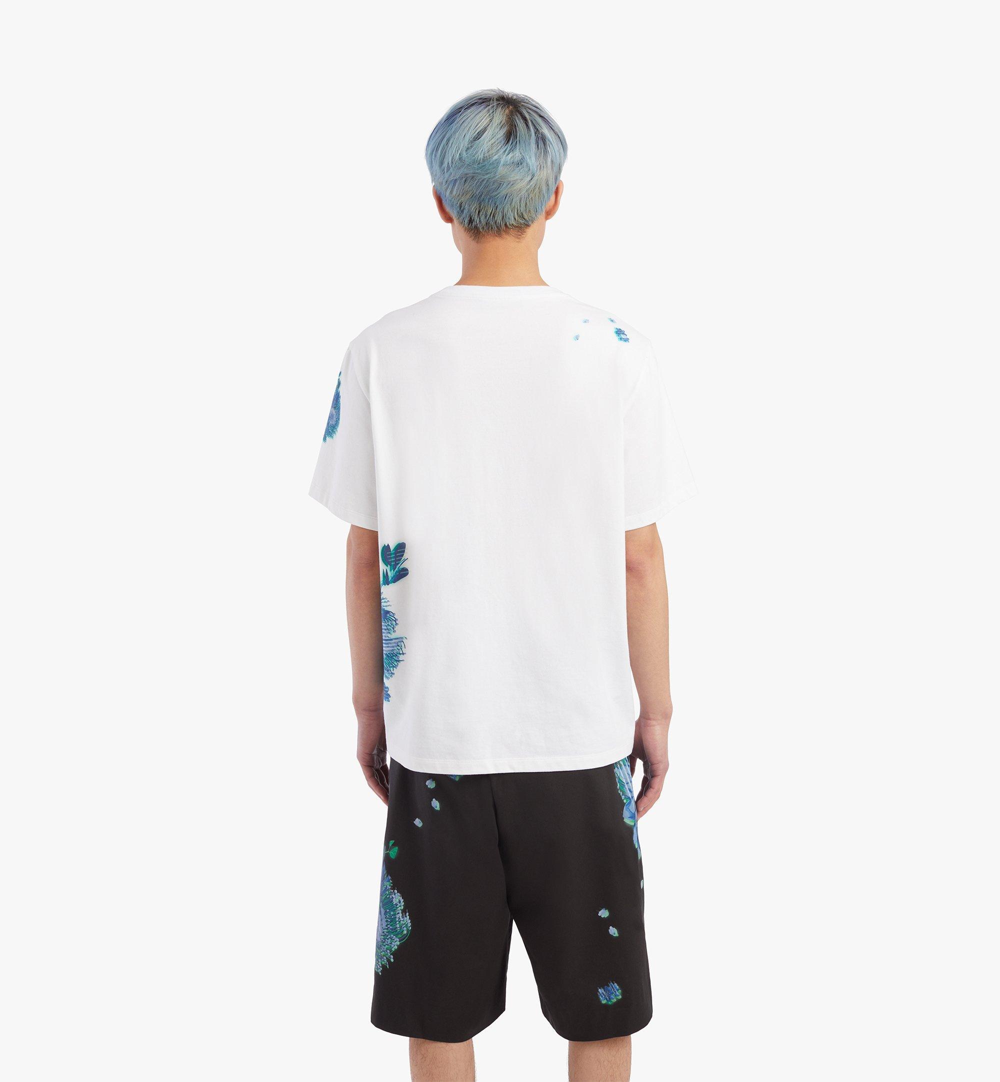 MCM Men's Tech Flower Print T-Shirt White MHTBSMM07WT00M Alternate View 3