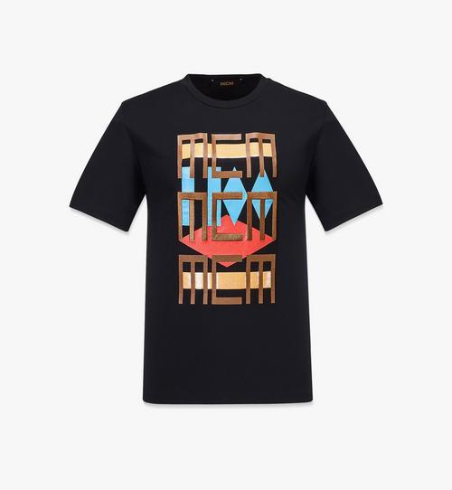 T-Shirt mit geometrischem Graffiti für Herren