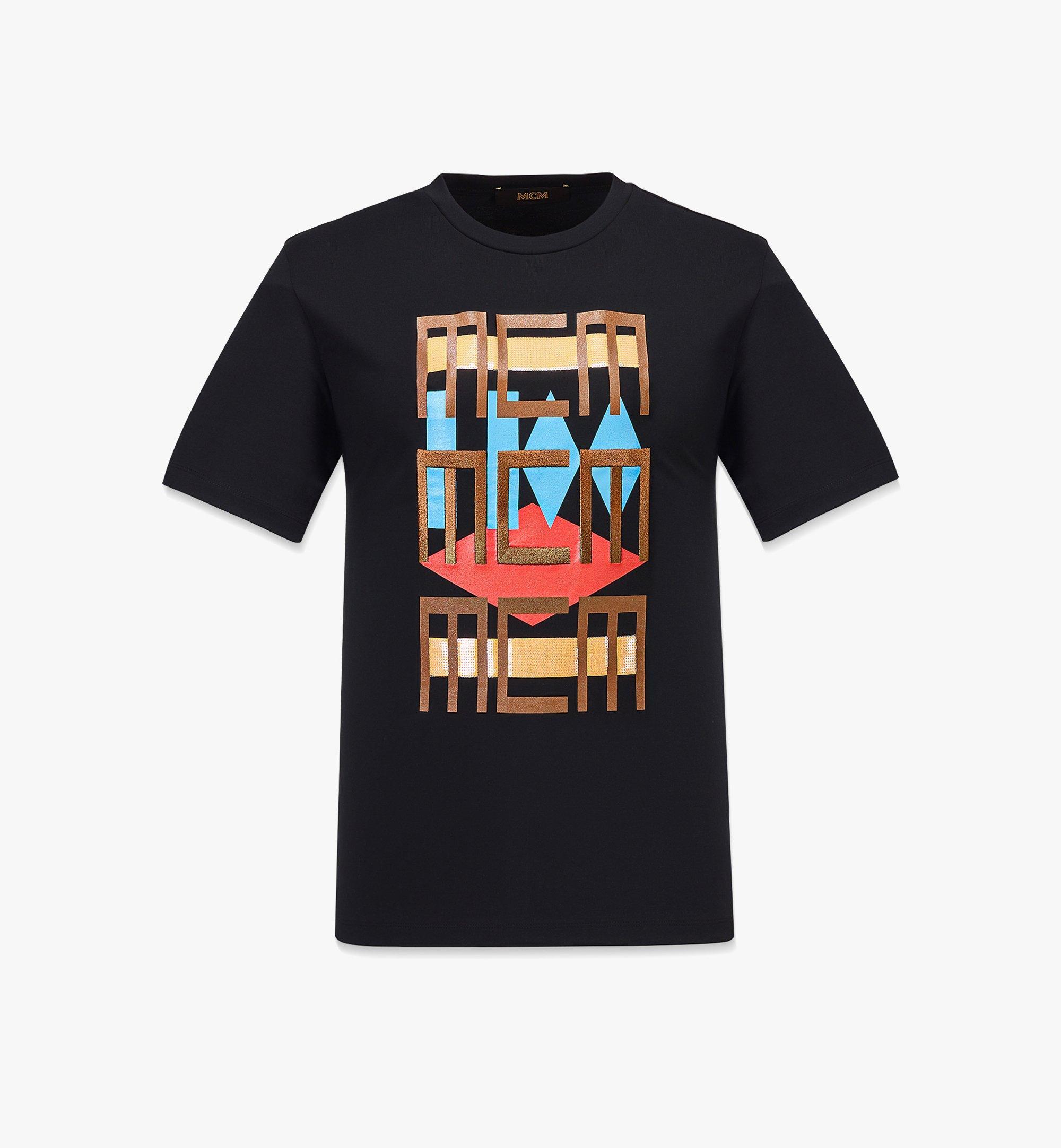 MCM Men's Geo Graffiti T-Shirt Black MHTBSMM08B200M Alternate View 1