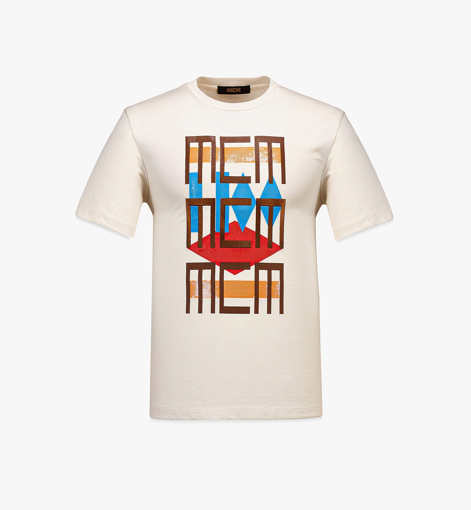 MCM 男士 Geo 塗鴉 T 恤 White MHTBSMM08IO00L 更多視圖 1