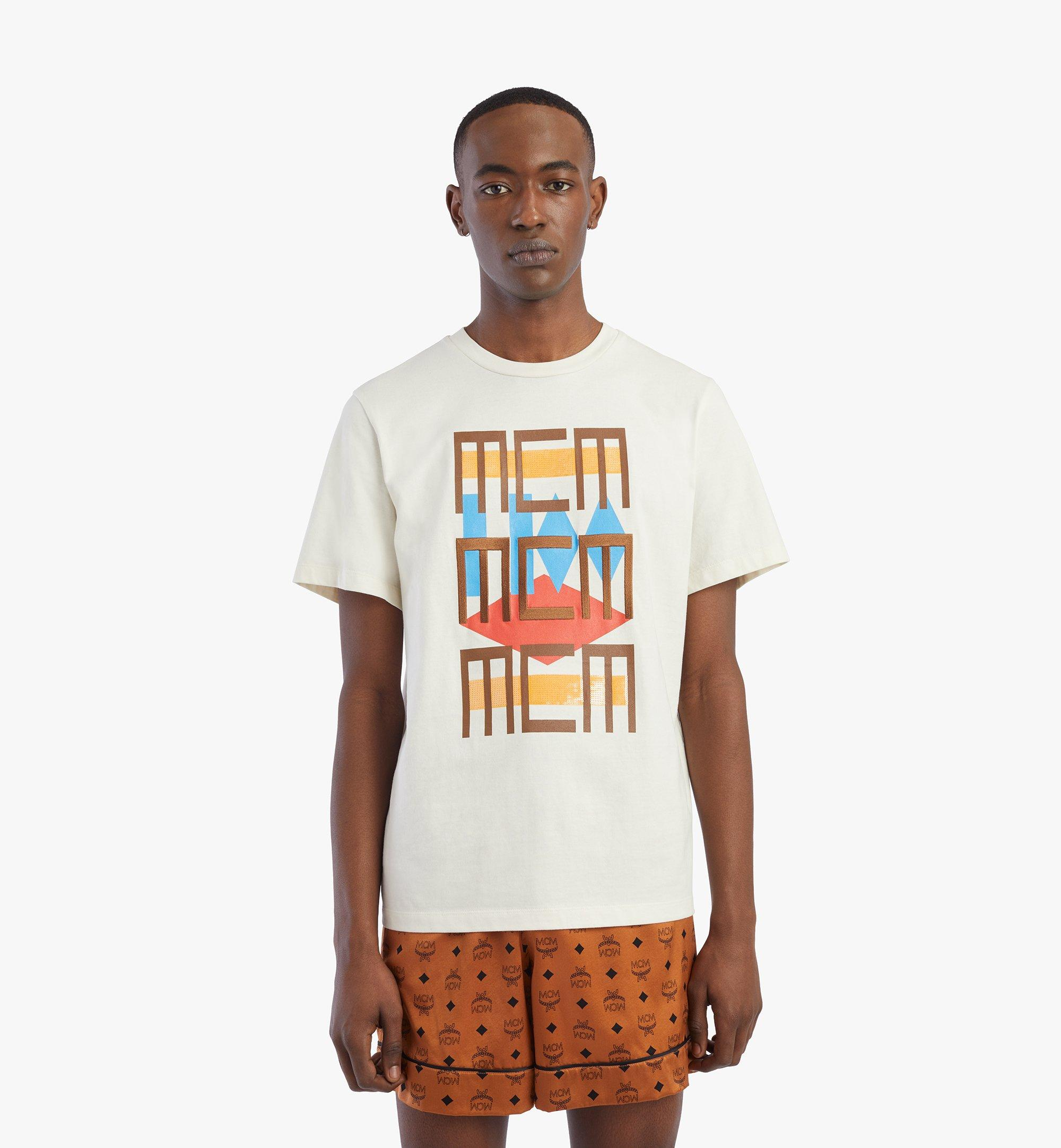 MCM Men's Geo Graffiti T-Shirt White MHTBSMM08IO2XL Alternate View 2