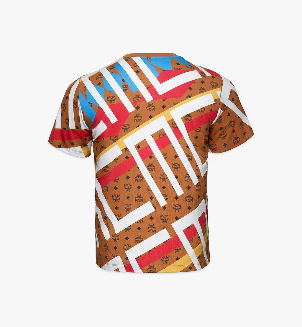 MCM Men's Geo Visetos Print T-Shirt Brown MHTBSMM08N400L Alternate View 1