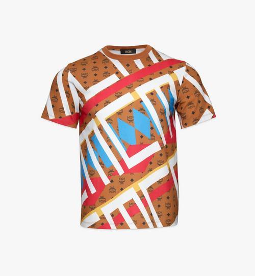 T-Shirt mit geometrischem Visetos-Monogramm für Herren