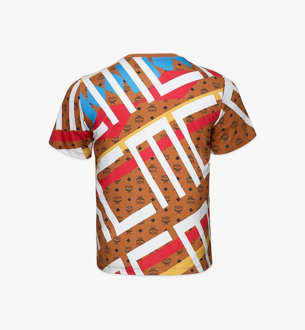 MCM Men's Geo Visetos Print T-Shirt Brown MHTBSMM08N400M Alternate View 1