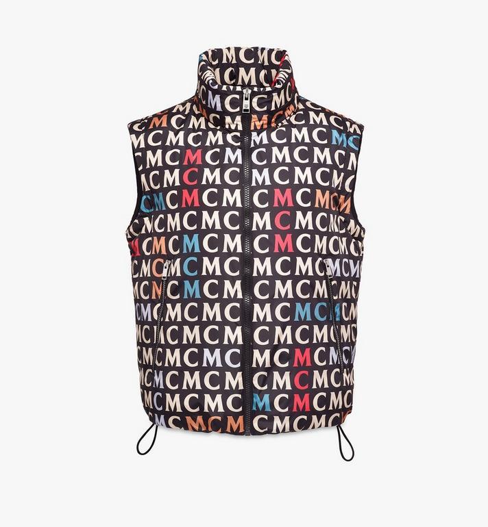 MCM Men's Quilted Vest in Monogram Nylon Alternate View