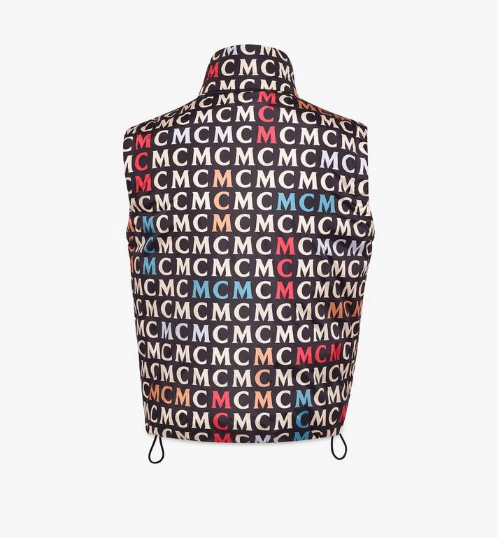 MCM Men's Quilted Vest in Monogram Nylon Black MHVAAMF01MW046 Alternate View 2