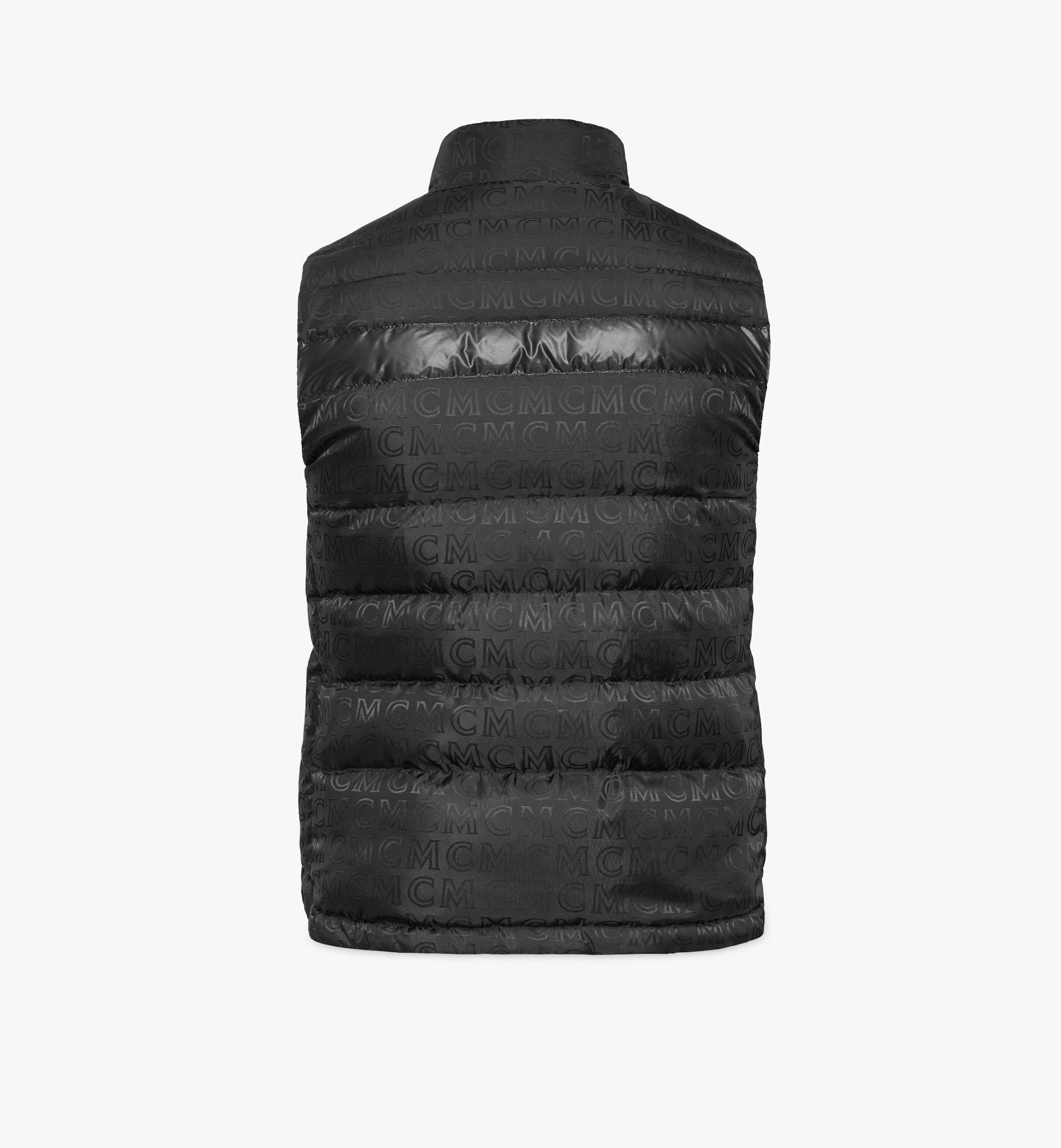 MCM Reversible Puffer Vest in Geo Graffiti Nylon Cognac MHVBSMM01CB050 Alternate View 3