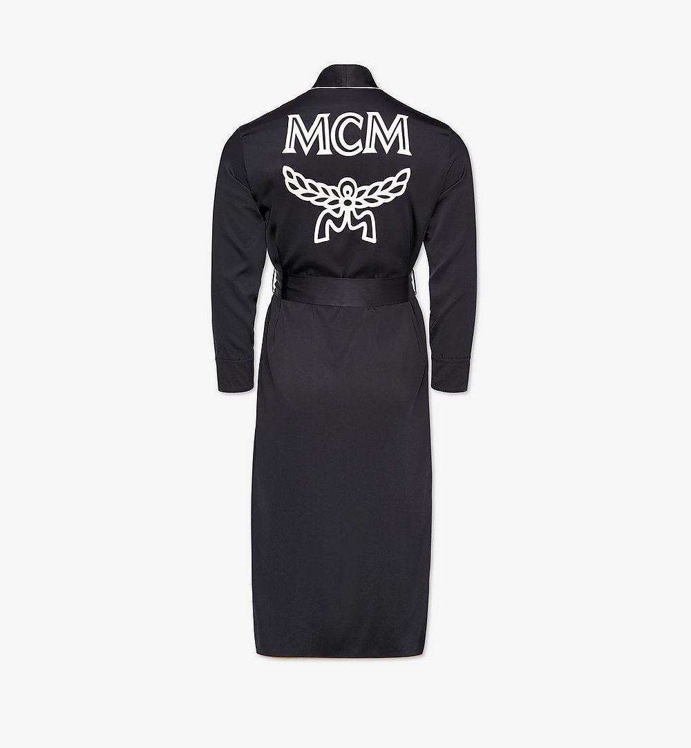 MCM Classic Logo Silk Reversible Robe Cognac MHXBSMM06CO00L Alternate View 5