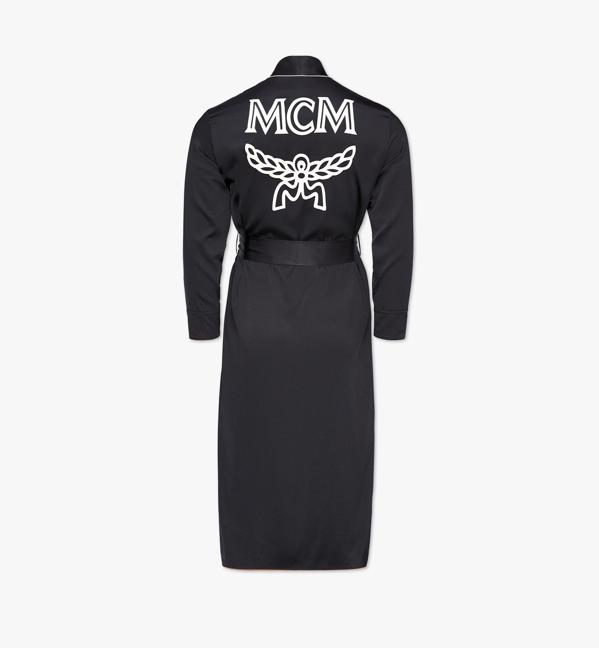 MCM Classic Logo Silk Reversible Robe Cognac MHXBSMM06CO00S Alternate View 3