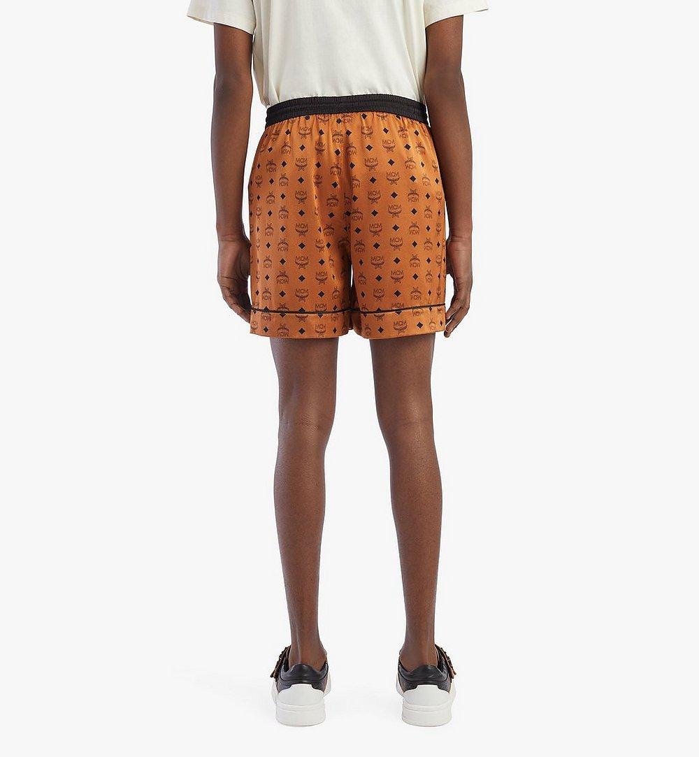 MCM Men's Silk Print Boxer Shorts Cognac MHXBSMM07CO00L Alternate View 2