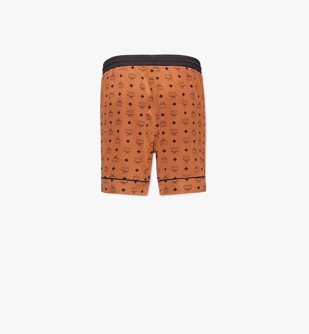 MCM Men's Silk Print Boxer Shorts Cognac MHXBSMM07CO00S Alternate View 1