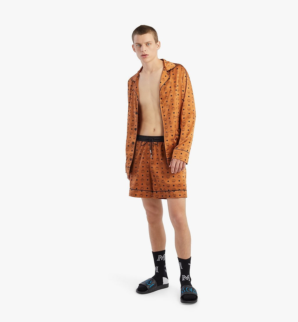 MCM Men's Silk Print Boxer Shorts Cognac MHXBSMM07CO00S Alternate View 3