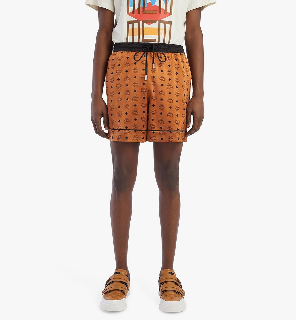MCM Men's Silk Print Boxer Shorts Cognac MHXBSMM07CO00S Alternate View 2