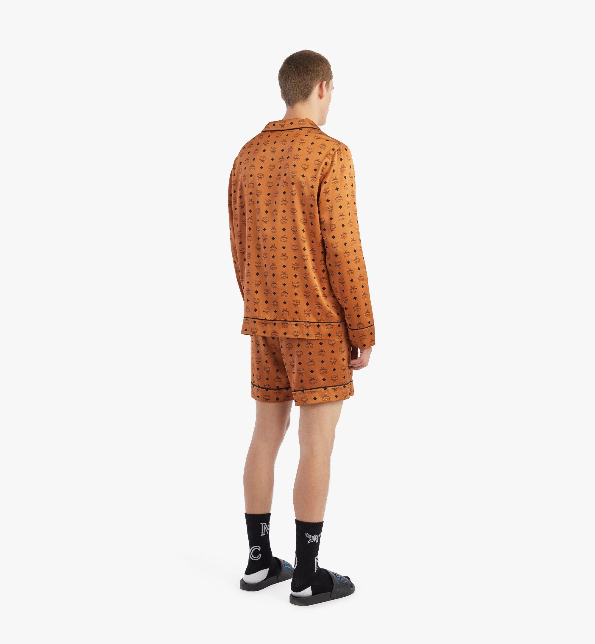 MCM Klassisches Pyjamahemd aus Seide mit Logo Cognac MHXBSMM08CO00L Noch mehr sehen 2