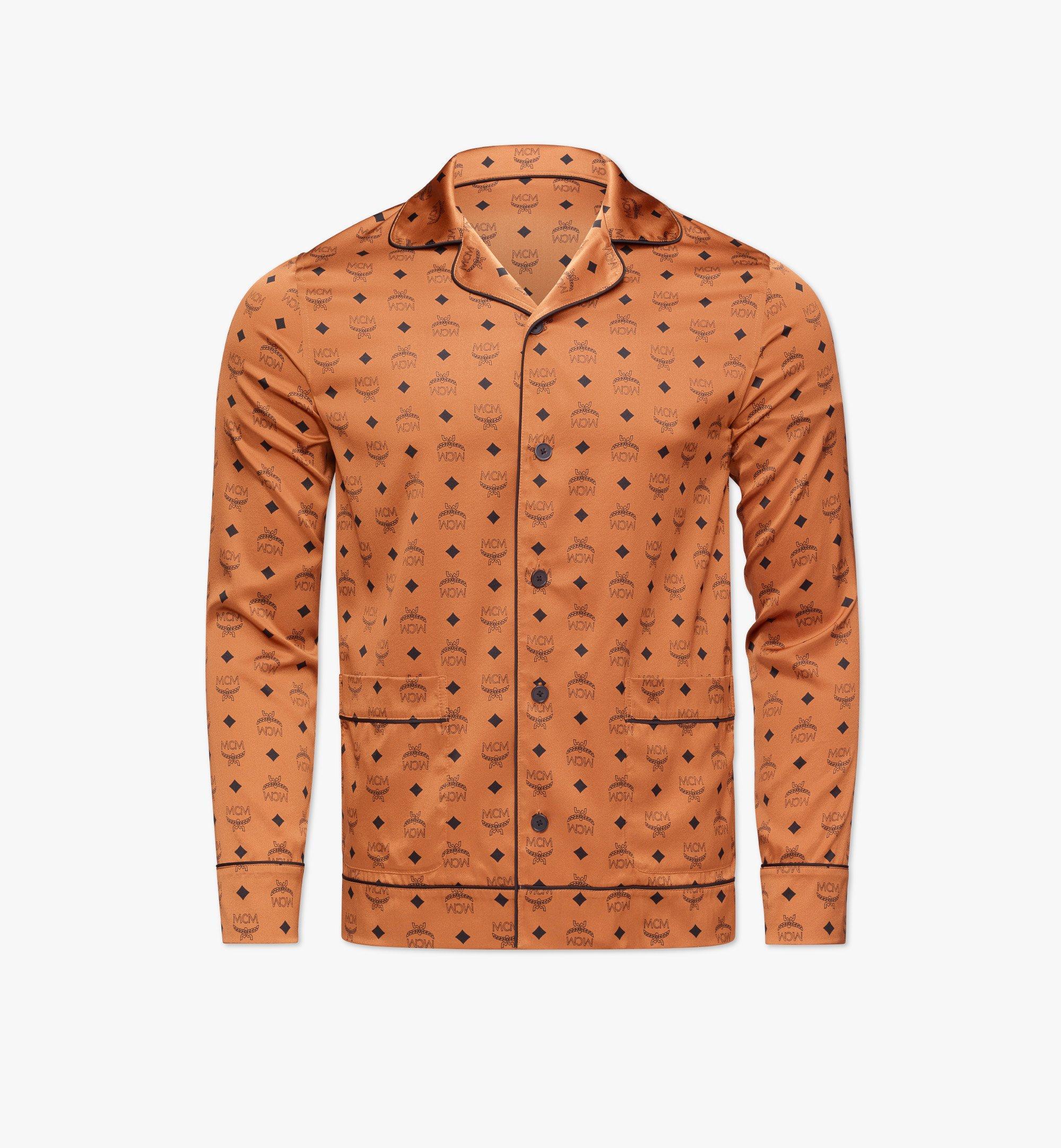 MCM Klassisches Pyjamahemd aus Seide mit Logo Cognac MHXBSMM08CO0XL Noch mehr sehen 1
