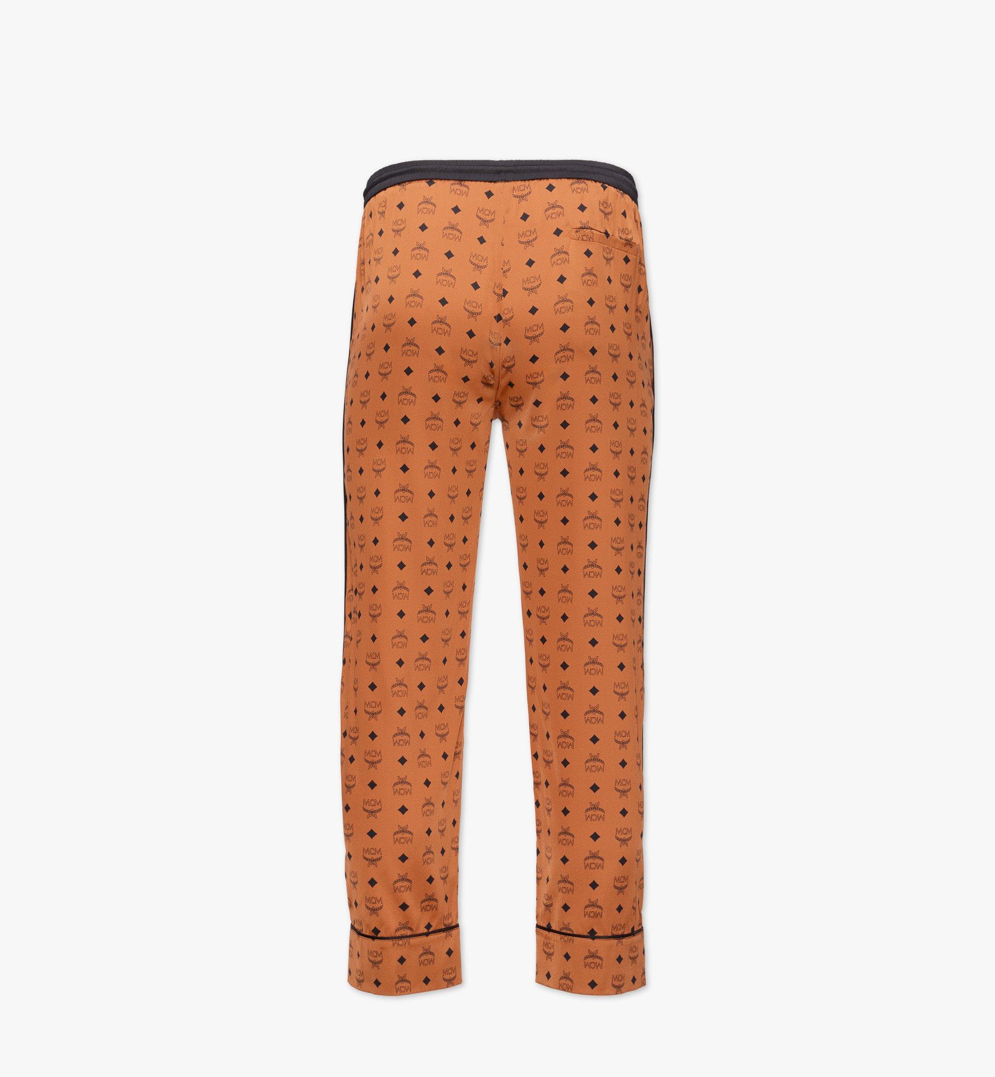 MCM Klassische Pyjamahose aus Seide mit Logo Cognac MHXBSMM09CO00S Noch mehr sehen 1