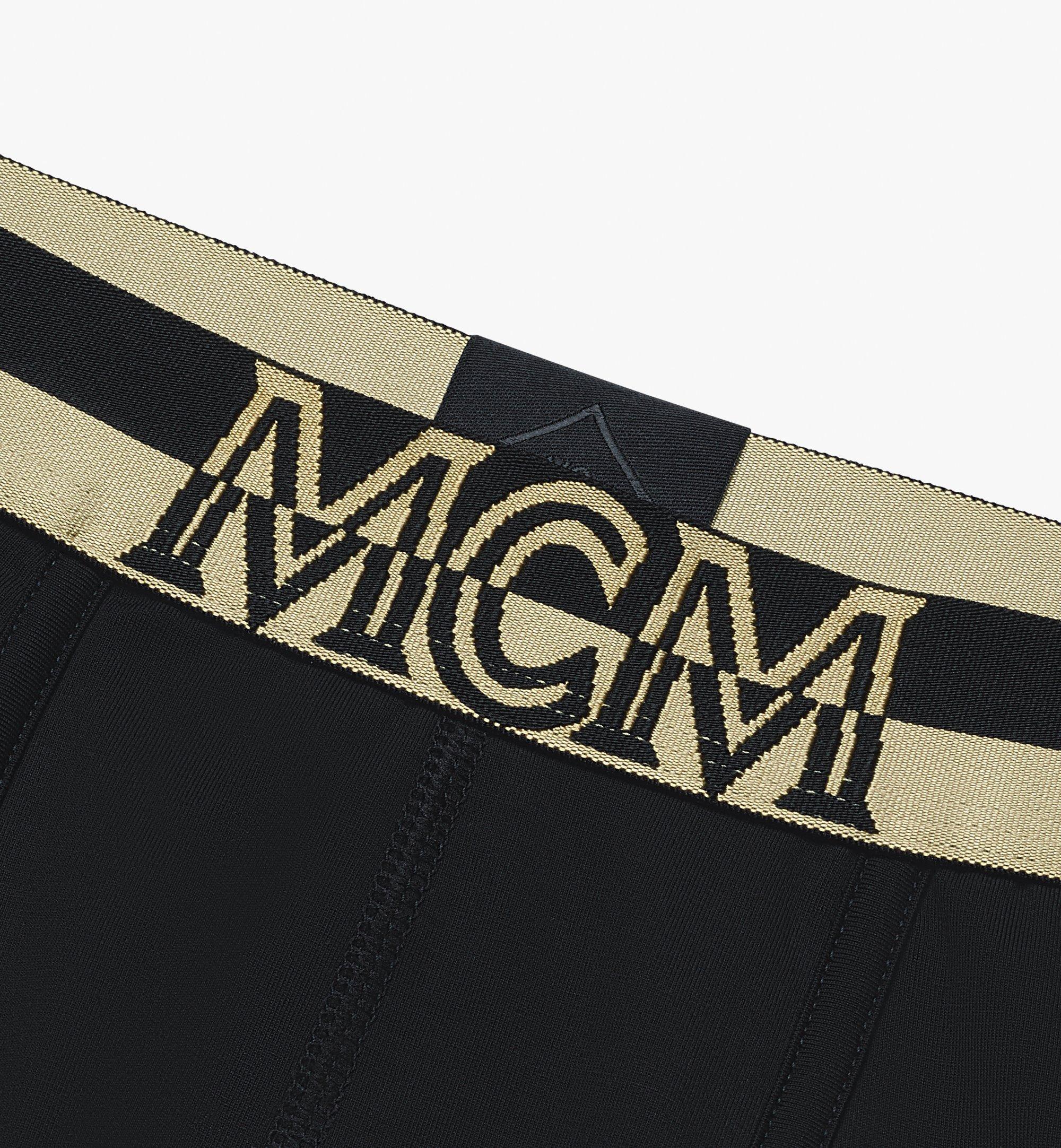 MCM Men's 1976 Long Boxer Briefs Black MHYASBM01BK00M Alternate View 2