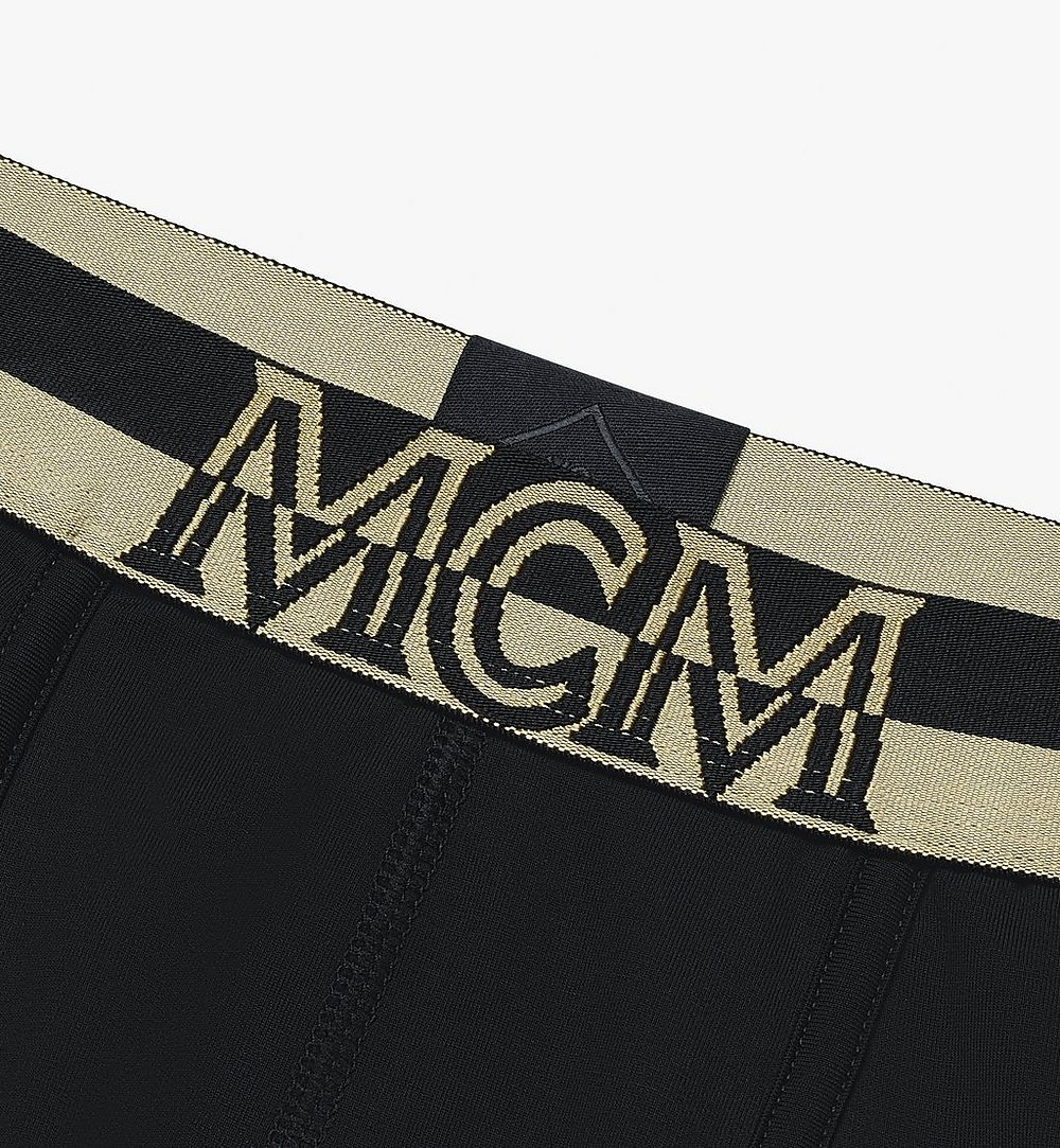 MCM Men's 1976 Long Boxer Briefs Black MHYASBM01BK00S Alternate View 2
