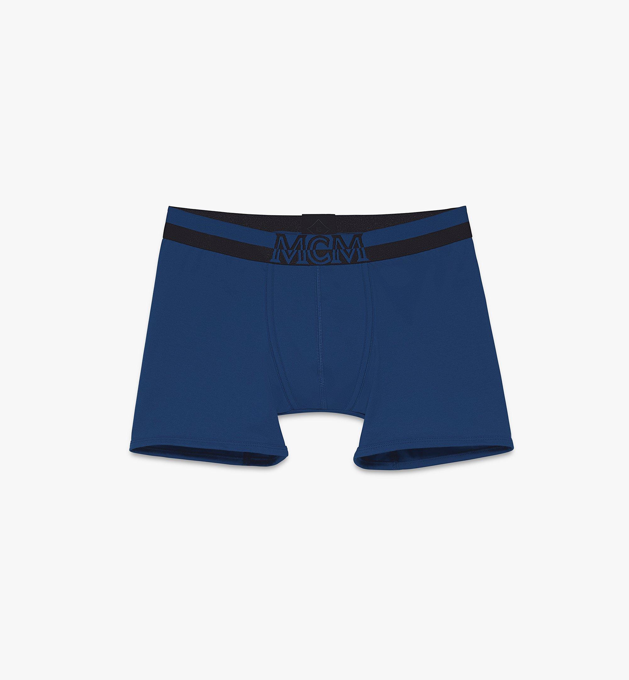 MCM Men's 1976 Long Boxer Briefs Blue MHYASBM01LU00L Alternate View 1