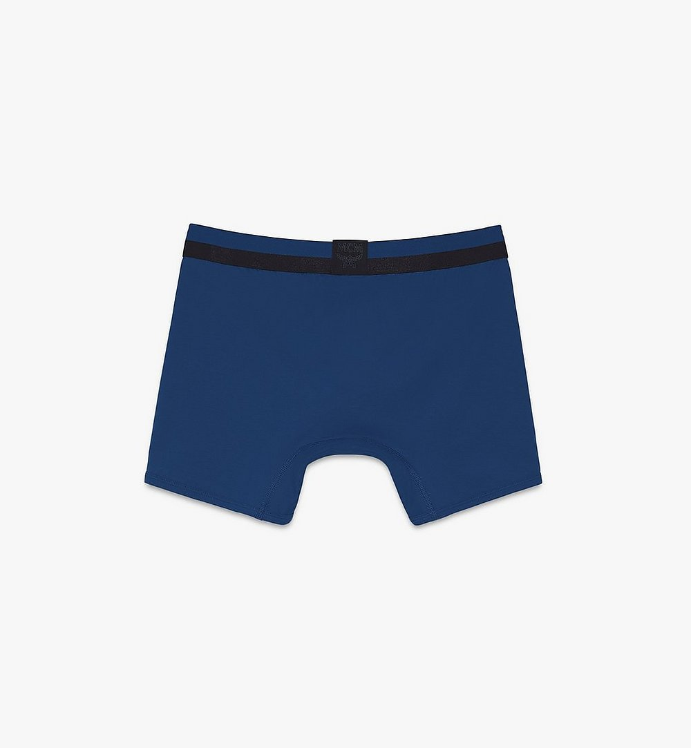 MCM 男士 1976 長款緊身四角褲 Blue MHYASBM01LU00L 更多視圖 1