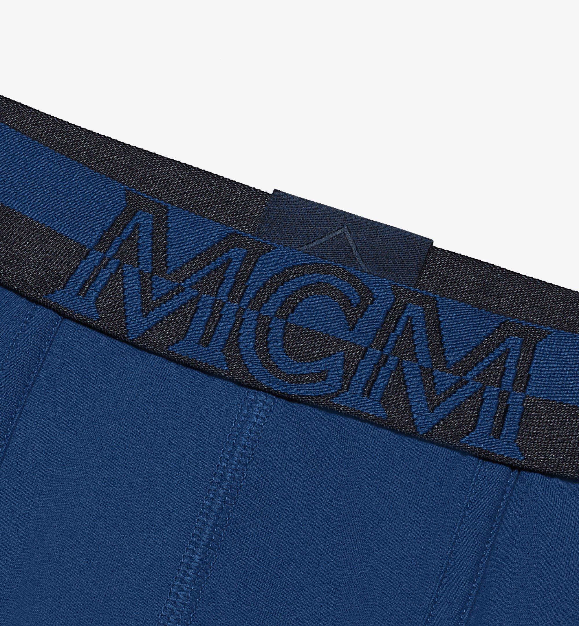 MCM Men's 1976 Long Boxer Briefs Blue MHYASBM01LU00L Alternate View 2