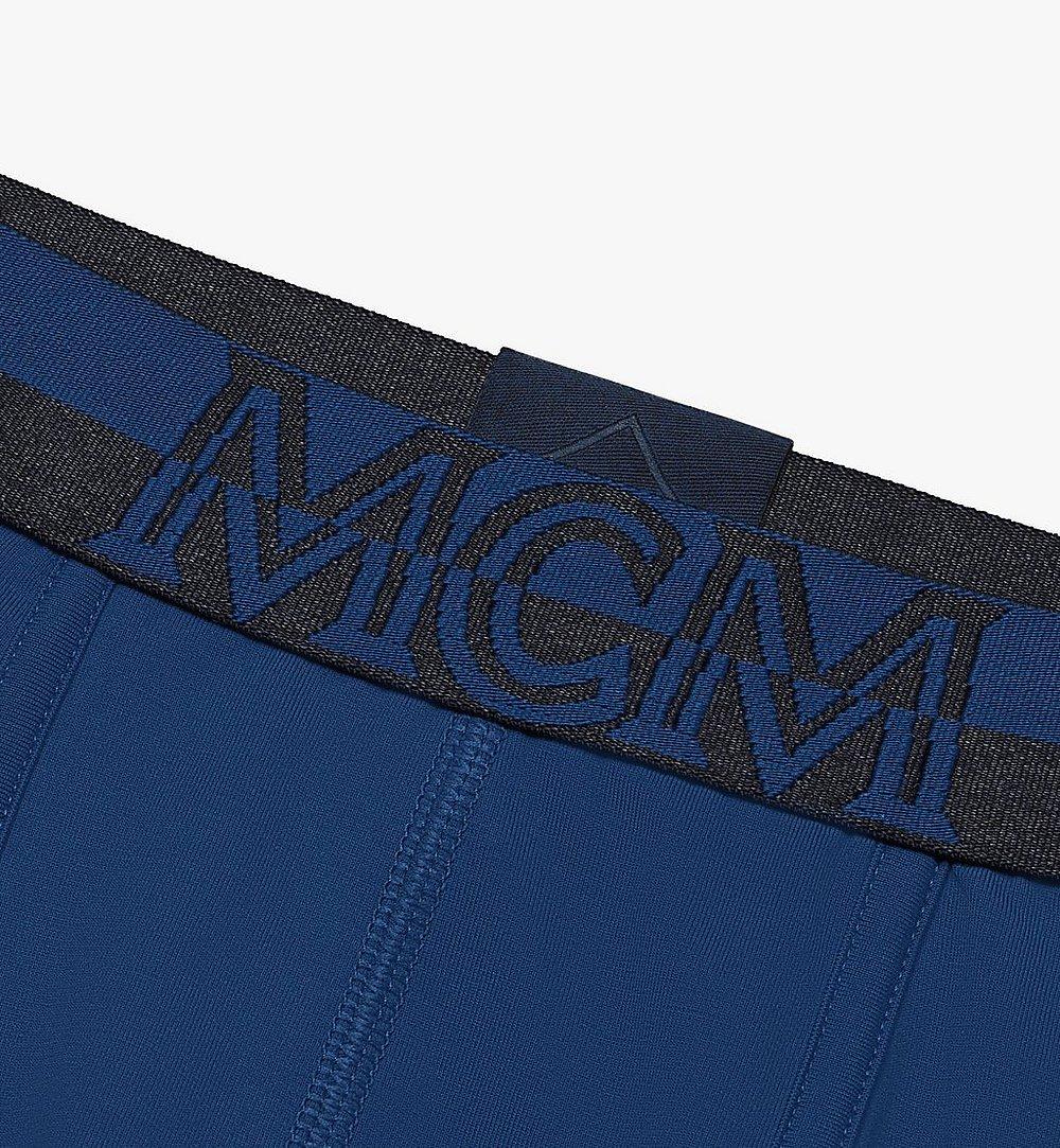 MCM 男士 1976 長款緊身四角褲 Blue MHYASBM01LU00L 更多視圖 2