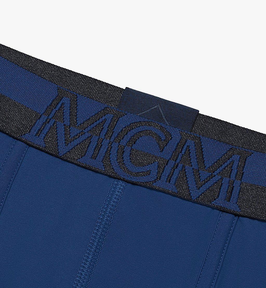 MCM Men's 1976 Long Boxer Briefs Blue MHYASBM01LU00L Alternate View 2