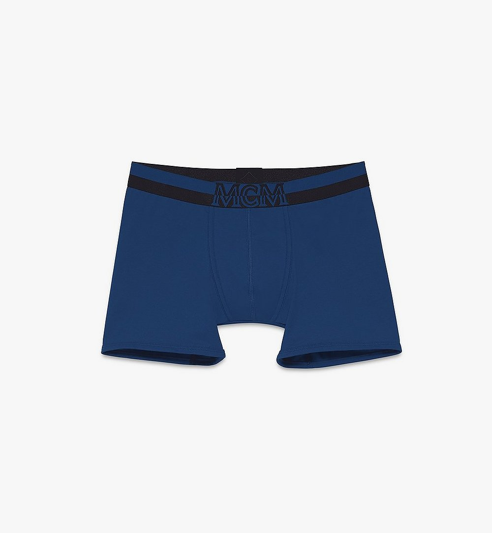 MCM Men's 1976 Long Boxer Briefs Blue MHYASBM01LU2XL Alternate View 1