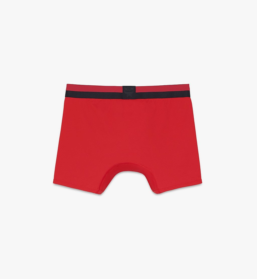 MCM Men's 1976 Long Boxer Briefs Red MHYASBM01RE00L Alternate View 1