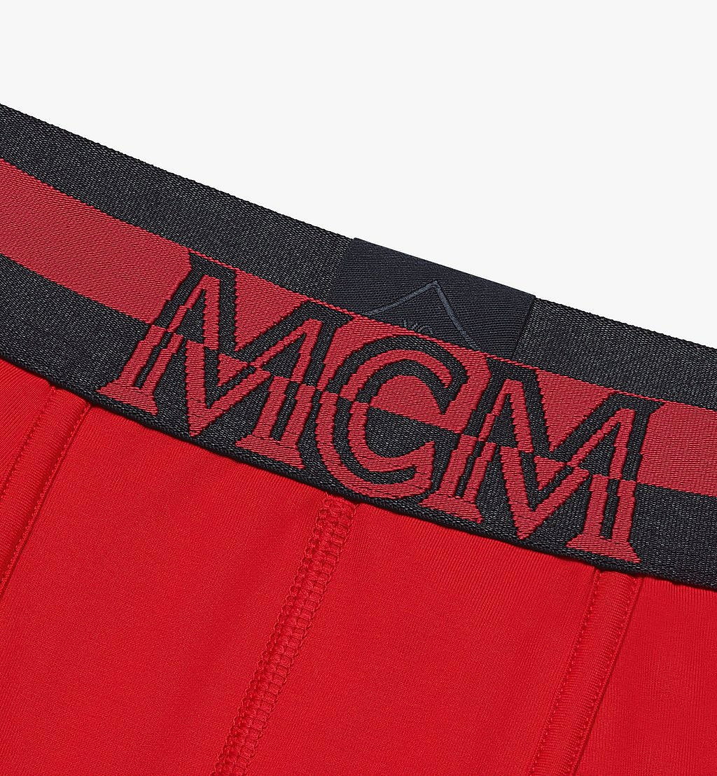 MCM Men's 1976 Long Boxer Briefs Red MHYASBM01RE00L Alternate View 2