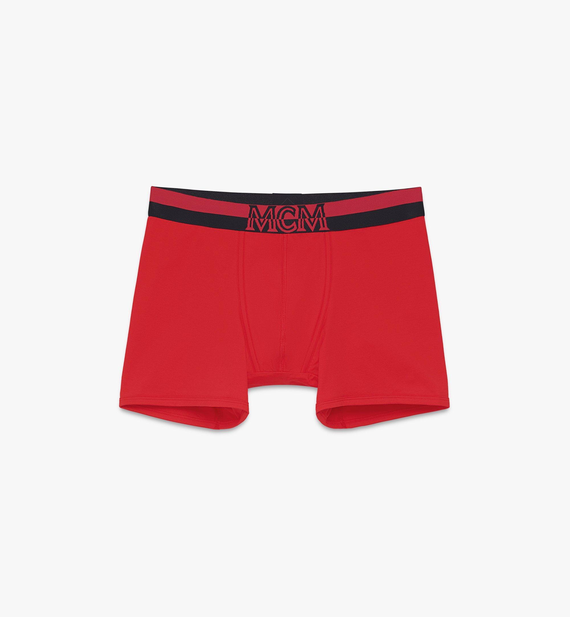 MCM Men's 1976 Long Boxer Briefs Red MHYASBM01RE00M Alternate View 1