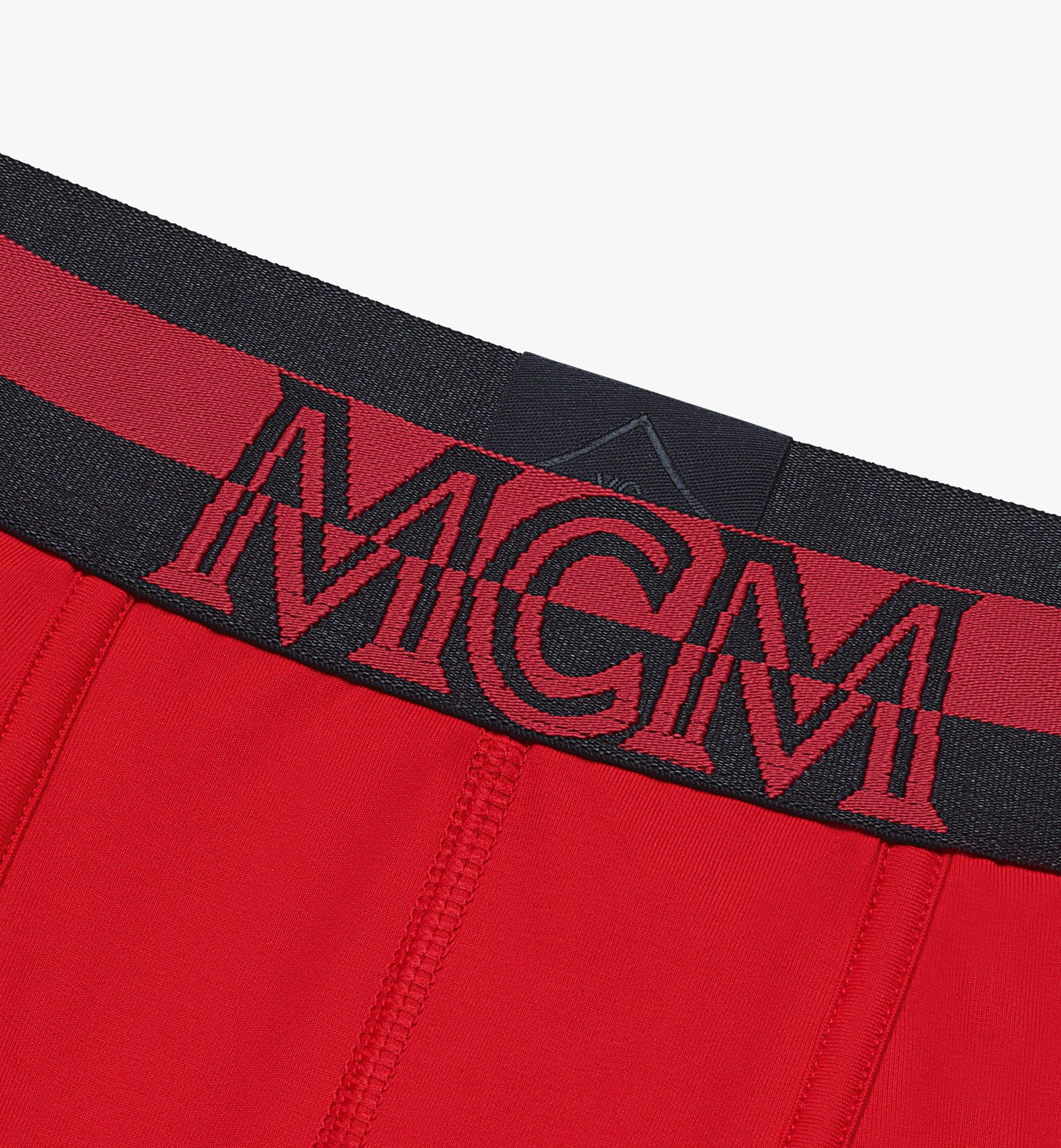 MCM Men's 1976 Long Boxer Briefs Red MHYASBM01RE00M Alternate View 2