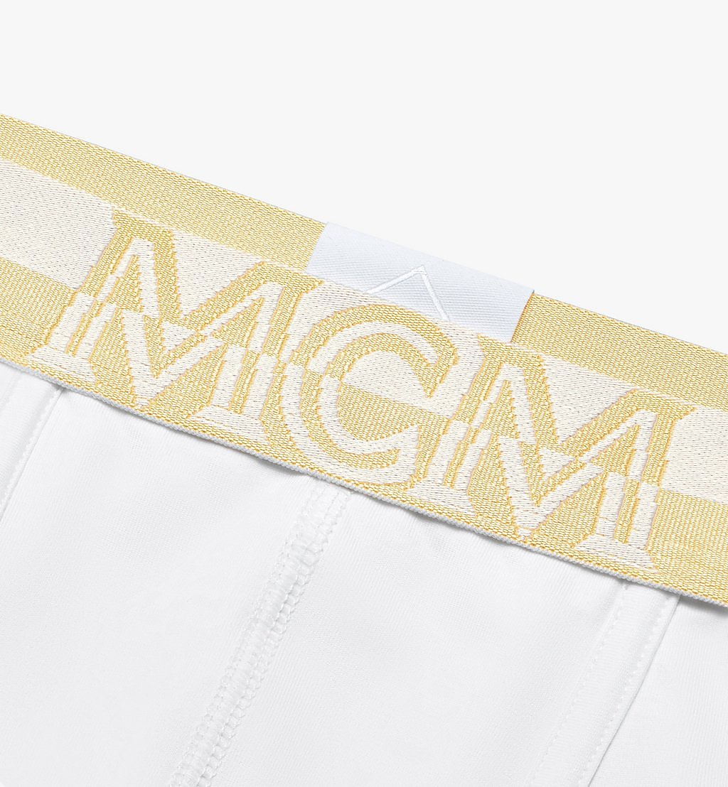 MCM Men's 1976 Long Boxer Briefs White MHYASBM01WT00L Alternate View 2