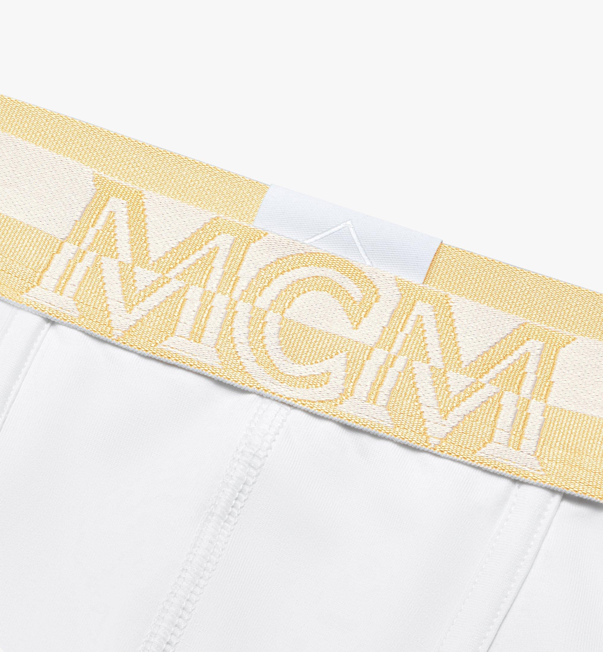 MCM Men's 1976 Long Boxer Briefs White MHYASBM01WT00M Alternate View 2
