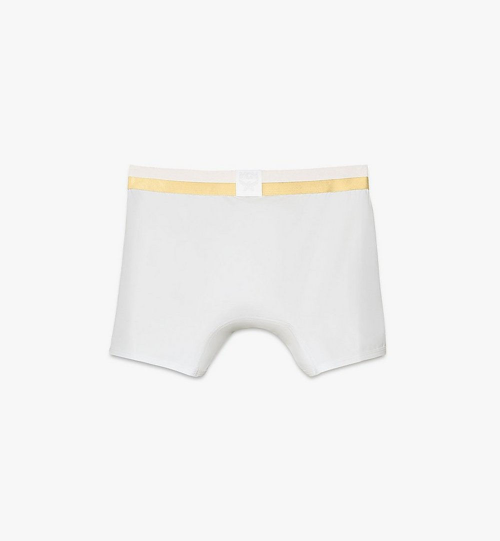 MCM Men's 1976 Long Boxer Briefs White MHYASBM01WT0XS Alternate View 1