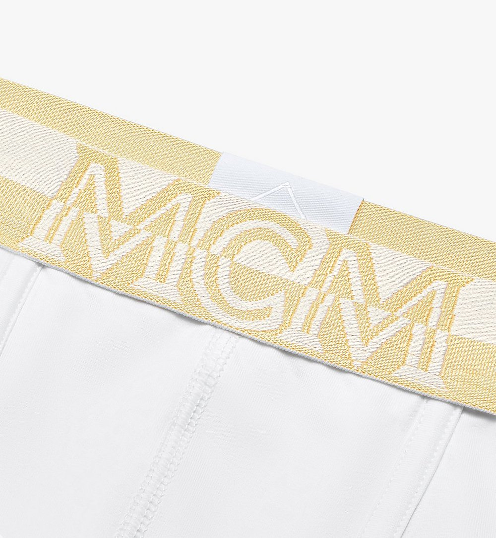 MCM Men's 1976 Long Boxer Briefs White MHYASBM01WT0XS Alternate View 2
