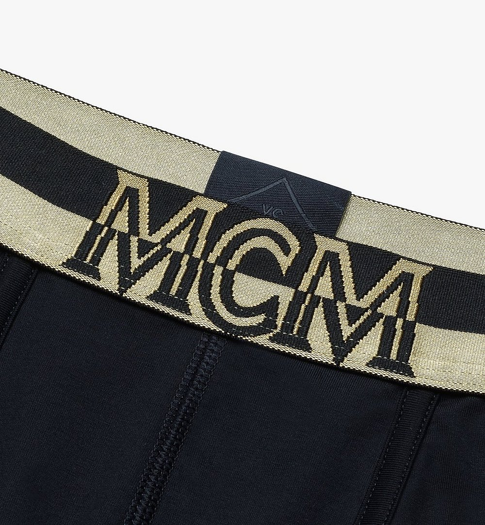 MCM Men's 1976 Short Boxer Briefs Black MHYASBM02BK00S Alternate View 2