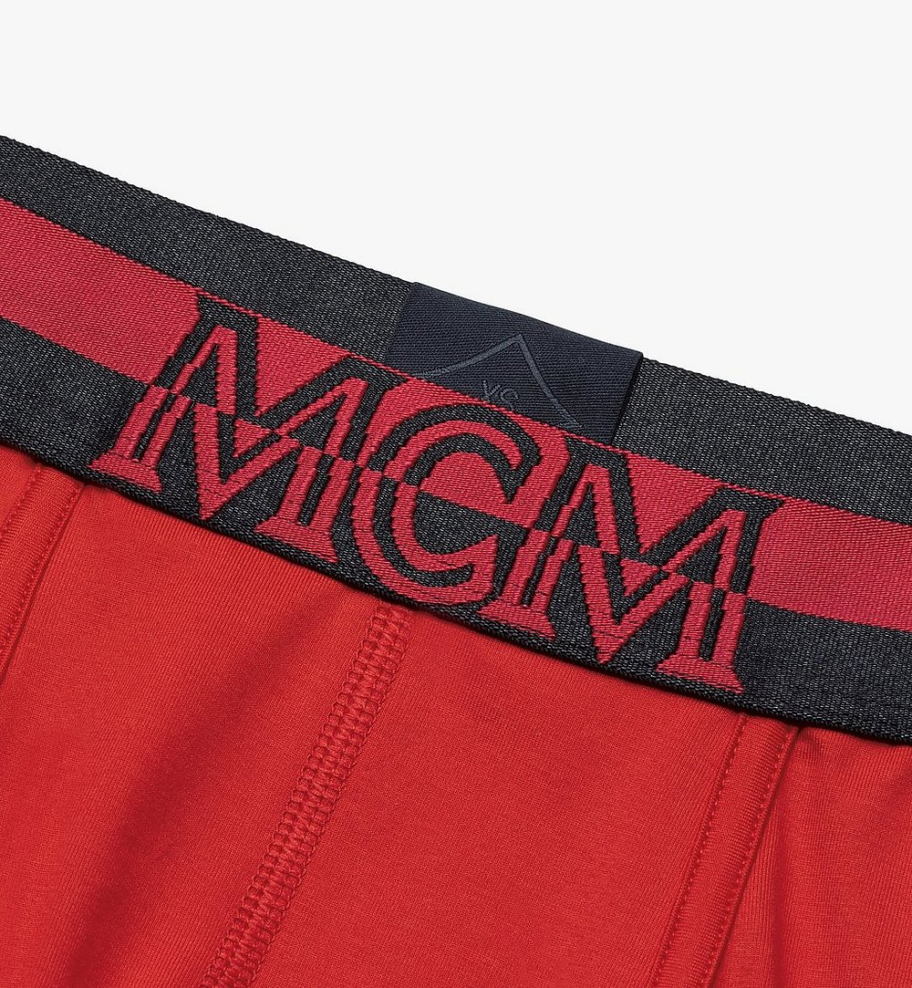 MCM Men's 1976 Short Boxer Briefs Red MHYASBM02RE00M Alternate View 2