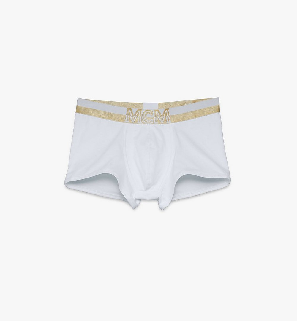 MCM 男士 1976 短款緊身四角褲 White MHYASBM02WT00L 更多視圖 1