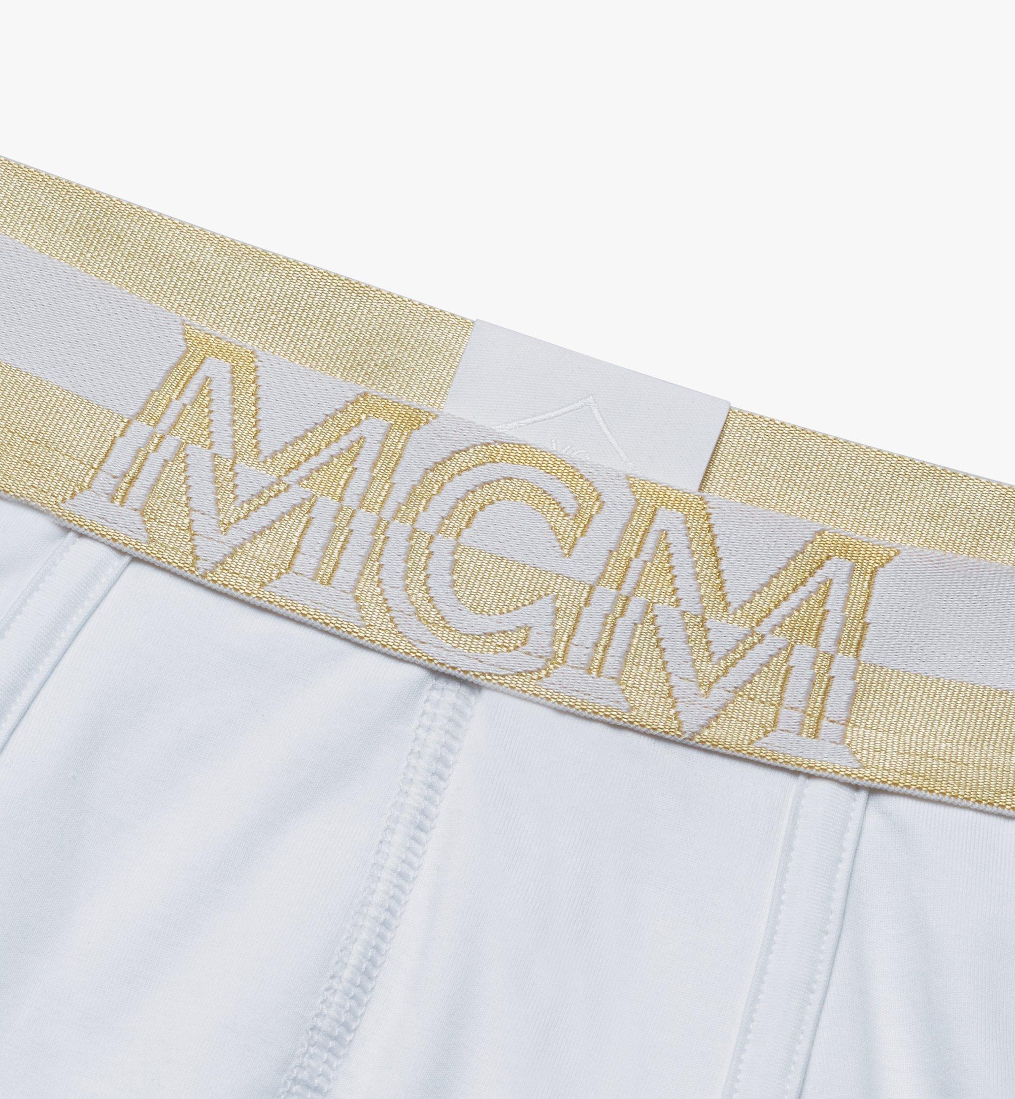 MCM 男士1976短款平角内裤 White MHYASBM02WT00L 更多视角 2