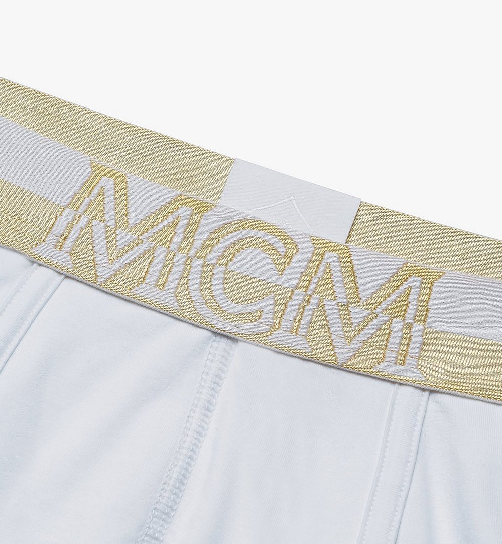 MCM 男士 1976 短款緊身四角褲 White MHYASBM02WT00L 更多視圖 2